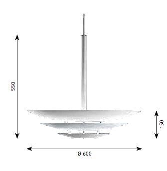 louis poulsen lampada a sospensione oslo. Black Bedroom Furniture Sets. Home Design Ideas