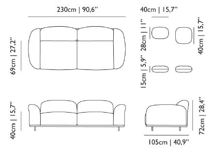 Moooi cloud sofa misure