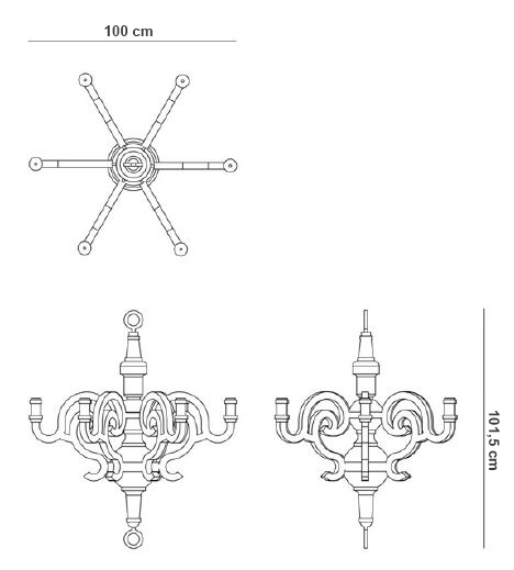 Moooi paper chandelier misure