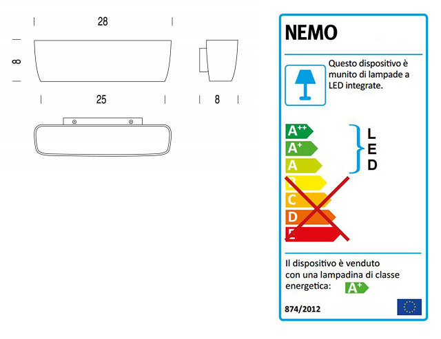 Nemo Lighting Flaca LED